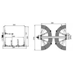 Podnośnik Dwukolumnowy Samochodowy 4 Tony, Półautomat PD4000MS1