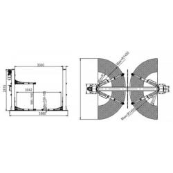 Podnośnik Dwukolumnowy Samochodowy 5,5 Tony, Automat PD5500ES
