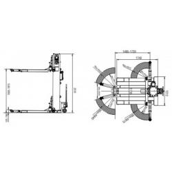Podnośnik Jednokolumnowy 2,5 Tony, Automat PJ2500ES