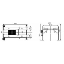 Podnośnik czterokolumnowy hydrauliczny 4 Tony PCZ4000