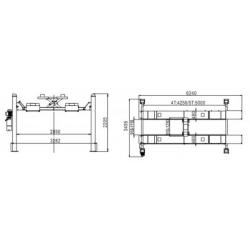 Podnośnik czterokolumnowy hydrauliczny 5 Tony PCZ5000