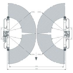 AMI Dwukolumnowy podnośnik samochodowy  5,5 VAN