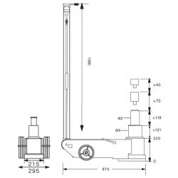Podnośnik pneumatyczno-hydrauliczny Snit S60-2J