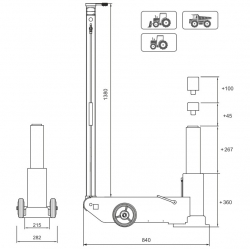 Podnośnik pneumatyczno hydrauliczny Snit S30-1H