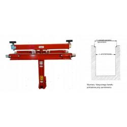 Podnośnik kanałowy 3,5 t. hydrauliczny z trawersem